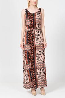 Длинное летнее платье с поясом кулиска TOM FARR