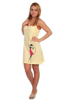 Сорочка из хлопка на лямках ElenaTex